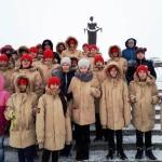 Юнармия посетила музей реконструкцию в СПБ посвященную Блокаде, возложили цветы у дома Тани Савичевой и на Пискаревском кладбище (7)